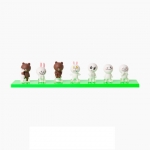 [Preorder] โมเดลตุ๊กตา LINE 1 เซ็ท มี 7 แบบ (Version 5) Korean shopping with my line friends Brown can be 3 cm mini doll seven sets of hands to do