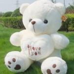 ตุ๊กตาบอกรัก ตุ๊กตาหมีบอกรัก ขนาด 90 CM สีขาว