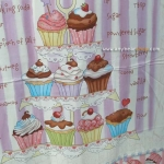 Sweet Shoppe Panel Cupcake Tower Vanilla/Multi