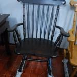 เก้าอี้โยกไม้สักสีโอ๊คดำ