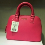 พร้อมส่งค่ะ MNG touch saffiano effect  mini shoulder bag/ handbag สี hot pink