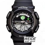 นาฬิกาข้อมือ WEIDE 2 ระบบ เรือนสีเทาดำมาใหม่ สไตล์สปอร์ต