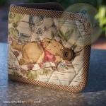 quilt wallet - Pooh bear