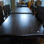 โต๊ะอาหารไม้สักสีโอ๊คดำ