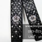 หุ้มสายเบลท์ D.A.D Crown Black ลายสานสีดำ