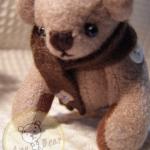 ตุ๊กตาหมีผ้าขูดขนสีโอวัลติน ขนาด 8 cm. - Ever