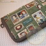 กระเป๋าสตางค์ใบยาวงานควิลท์ผ้าลาย Anne
