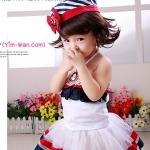แฟนซีลีดเดอร์ +กระโปรง+หมวก Size 1 - 2 ขวบค่ะ  Leader Baby Costume