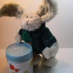 กระต่ายหูยาวสีเทาขาว ขนาด 21 ซม.