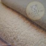 เซตผ้าขนปุยสำหรับเย็บตุ๊กตาหมี  - โทนสีขาว