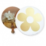 Marc Jacobs Daisy Stainless Steel Round Mirror