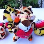 พวงกุญแจตุ๊กตา เสือ โหลละ 240 บาท (12 ชิ้น)