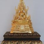 พระพุทธชินราชชุบทอง99.9พร้อมฐาน