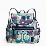 KYRA SCARF PRINT BACKPACK
