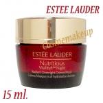 ESTEE LAUDER Nutritious vitality8 night Radiant overnight cream /mask 15 ml ครีมเนื้อเนียนนุ่มสำหรับกลางคืนที่ช่วยปรนนิบัติผิวอย่างอ่อนโยน