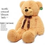 ตุ๊กตาหมียิ้มผูกเน๊คไท Teddy 2 เมตร  สีน้ำตาลอ่อน