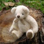 ตุ๊กตาหมีผ้าขนสีครีมขนาด 17 cm. - Bobble