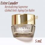 Estee Lauder Revitalizing Supreme Global Anti-Aging Eye Balm 5 ml. ครีมลดเลือนริ้วรอยรอบดวงตา เนื้อบาล์ม ยกกระชับผิวรอบดวงตา มอบผิวที่เปล่งปลั่ง สดใส มีชีวิตชีวา
