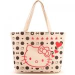 [Preorder] กระเป๋าผ้าเก๋ๆ Hello Kitty ลายจุดสีครีม Value Special hello kitty cute shoulder bag handbag bag creative cartoon Hello Kitty canvas bag