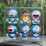 [Preorder] โมเดล Doraemon 1 เซ็ทมี 6 แบบ (Version 4) A Dream car Decoration doll Zodiac robot cat cartoon car accessories Tanabata Valentine's Day gift