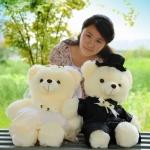 ตุ๊กตาหมีแต่งงาน ตุ๊กตาคู่บ่าวสาว ขนาด 70 CM