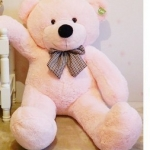 ตุ๊กตาหมียิ้มผูกโบว์ Teddy 1.2 เมตร สีชมพู ตุ๊กตาตัวใหญ่น่ารักน่ากอด