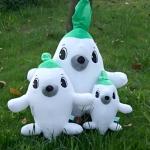 เซตพ่อแม่ลูกตุ๊กตาหัวไซเท้าหรือตุ๊กตาหัวผักกาด สินค้ายอดฮิตจากซีรี่ย์เกาหลีเรื่องดัง Rooftop Prince 3 ไซต์