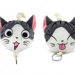 กระเป๋ากุญแจแมวจี้ (เลือกหน้าที่ต้องการ)