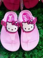 (พร้อมส่ง)รองเท้าคีบคิตตี้ ลิขสิทธิ์แท้ 100% มีไซส์ 24-40 มีของเด็กและผู้ใหญ่ค่ะ สีชมพูอ่อน
