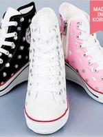 [Pre-order] รองเท้าผ้าใบส้นสูง แฟชั่นเกาหลี