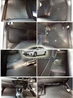 พรมปูพื้นรถยนต์ ALL NEW ALTIS 2014 ลายกระดุม สีดำด้ายแดง เต็มคัน 14 ชิ้น