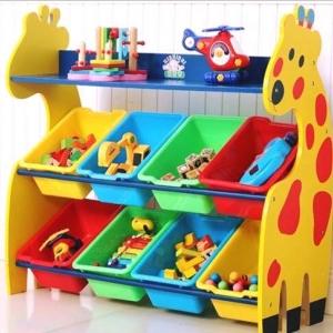 ชั้นวางของ ที่เก็บของเล่นเด็ก ยีราฟ (Giraffe Keeping Toy) ขนาดทั้งหมด กว้าง 83 ซ.ม. x สูง 80 ซ.ม. x ลึก 30 ซ.ม