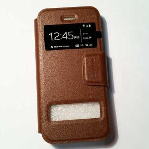 เคสไอโฟน 5/5S/SE ฝาพับรับสาย สีน้ำตาล
