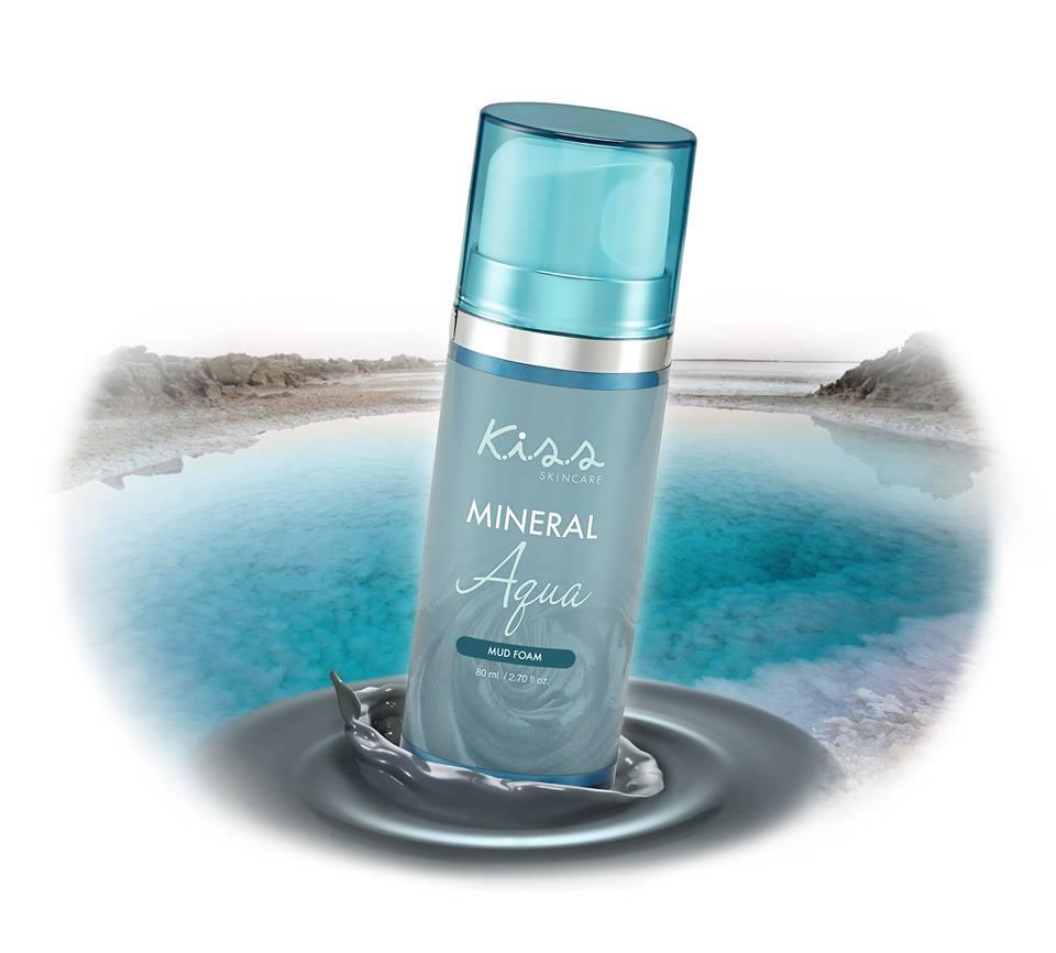 Kiss skincare mineral aqua mud foam 80 ml. โฟมล้างหน้าkiss