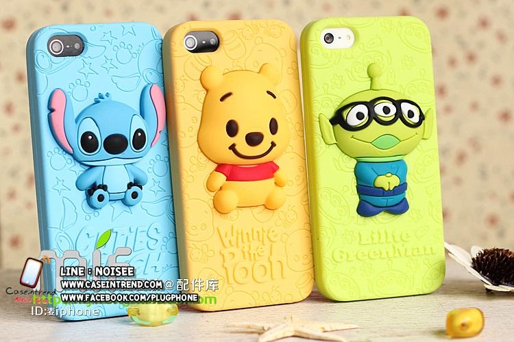เคส iPhone4/4s ซิลิโคน Disney หมีพูห์ , สติช , กรีนแมน