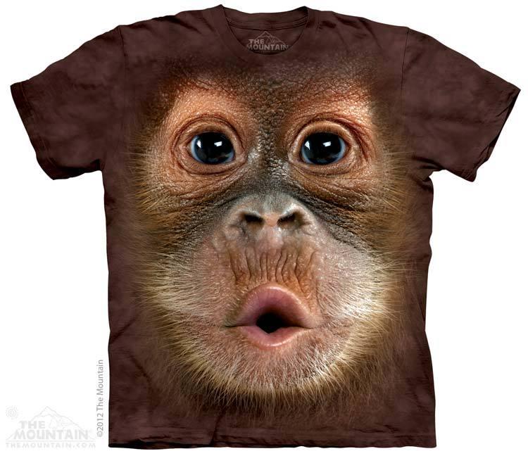 เสื้อยืด3Dสุดแนว(BIG FACE BABY ORANGUTAN T-SHIRT)
