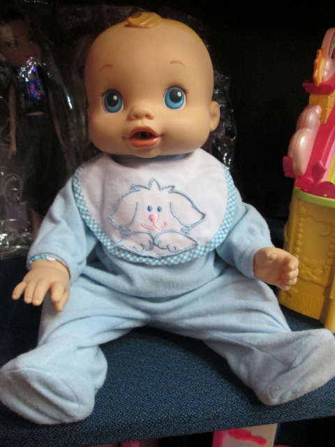 Pics photos hasbro baby alive wets wiggles boy doll giggles and coos