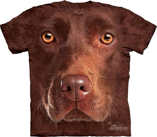 Big Face Brown Chocolate Labrador Dog Face T-Shirts