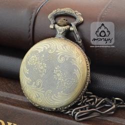 ชุดนาฬิกาสังฆทานถวายพระ ลายดอกไม้เถาวัลย์สีทองเหลือง (พร้อมส่ง)