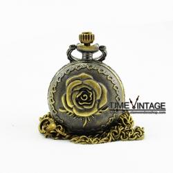 สร้อยคอนาฬิกากุหลาบ Romace Rose พร้อมรูปใต้ฝา