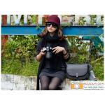 กระเป๋ากล้องแฟชั่นสไตลืเกาหลี SLR DSLR สีดำ