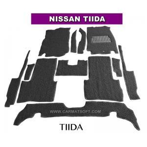 พรมดักฝุ่นไวนิล NISSAN TIIDA สีเทา เต็มคัน สวยงาม เข้ารูป100% หนานุ่ม เหยียบนุ่มสบายเท้า ดักฝุ่น ดักทราย กันน้ำ ได้ดีที่สุด...ส่งฟรี