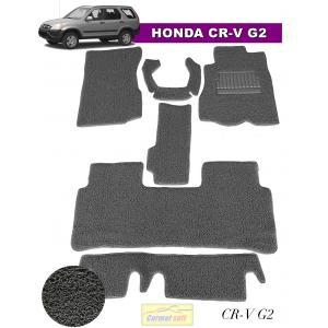 พรมดักฝุ่นไวนิล HONDA CR-V G2 รุ่น VINYL MAT เย็บขอบ สีเทา