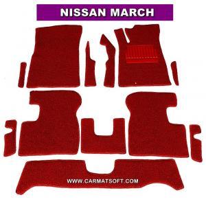 พรมดักฝุ่นไวนิล NISSAN MARCH สีแดง เต็มคัน สวยงาม เข้ารูป100% หนานุ่ม เหยียบนุ่มสบายเท้า ดักฝุ่น ดักทราย กันน้ำ ได้ดีที่สุด...ส่งฟรี