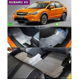 ยางปูพื้นรถยนต์ SUBARU XV รุ่น MiniMat Premium พรมกระดุมเม็ดเล็ก PVC รีดขอบ สีเทา