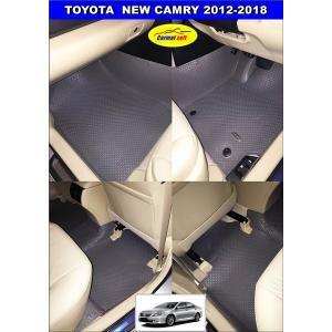 พรมกระดุมเม็ดเล็กรีดขอบ NEW CAMRY 2012-2018 สีเทา เต็มคัน เข้ารูป100%