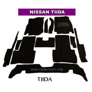 พรมดักฝุ่นไวนิล NISSAN TIIDA สีดำ เต็มคัน สวยงาม เข้ารูป100% หนานุ่ม เหยียบนุ่มสบายเท้า ดักฝุ่น ดักทราย กันน้ำ ได้ดีที่สุด...ส่งฟรี