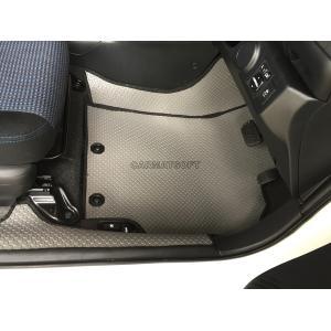 ยางปูพื้นรถยนต์ ALL NEW VIOS 2014 รุ่น MINI MAT กระดุมเม็ดเล็ก สีเทาขอบดำ