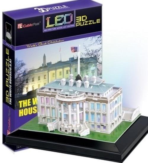 จิ๊กซอ 3 มิติ ทำเนียบขาวแบบเปล่งแสง(The White House LED )(No.L504h)
