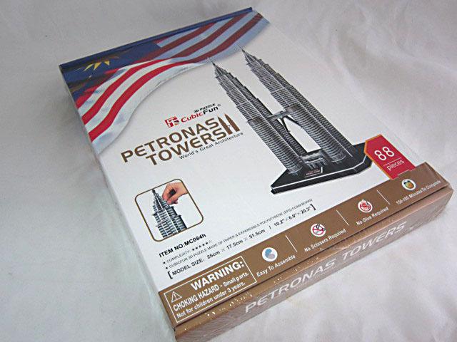 จิ๊กซอ 3 มิติ เปรโตรนาสทาวเวอร์ (Petronas Towers)(No.MC084h)